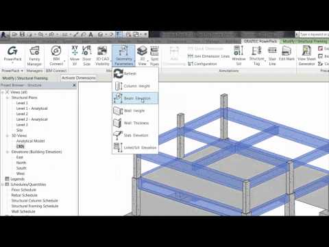 GRAITEC PowerPack for Autodesk Revit - Shared Geometry Parameters