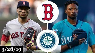 Boston Red Sox vs Seattle Mariners Highlights | March 28, 2019 | Opening Day