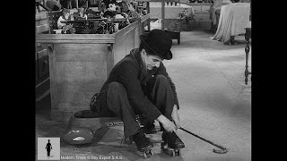 Charlie Chaplin Roller Skating (Funny scene from Modern Times )