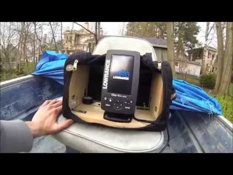 Portable Fish Finder Setup With Lowrance Elite 4X HDI