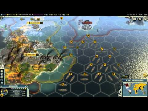 Civilization V - Episode 9, part 2 - Russia vs Japan & Mongolia