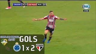 Gols - Cruzeiro 1 x 2 São Paulo - Copa do Brasil 2017