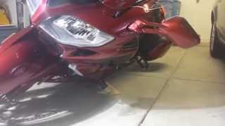 2014 FJR1300ES Canyon Cage Tip Test With Sliders