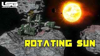 Space Engineers - Rotating Sun & Station Wreckage