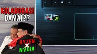 Ryzen Bisa Damai Dengan Nvdia | Masa Jokowi dan Prabowo Enggak ? | Review Asus F570ZD