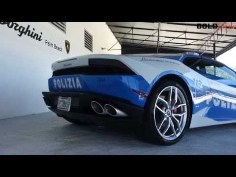 Lamborghini Huracan Police Car Revving - BoldRide.com