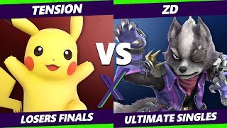 Smash Ultimate Tournament - Tension (Pikachu, Fox) Vs ZD (PKMN Trainer, Wolf) S@X 316 Losers Finals
