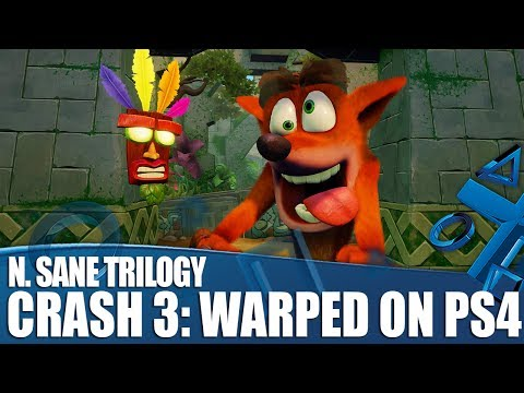 Crash Bandicoot N. Sane Trilogy - First Look At Crash 3: Warped on PS4!