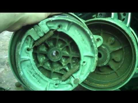 How to inspect. adjust rear drum brakes on motorcycles