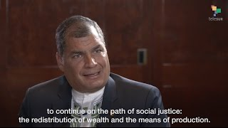 Pres. Correa & Abby Martin: Fighting Poverty & Foreign Domination