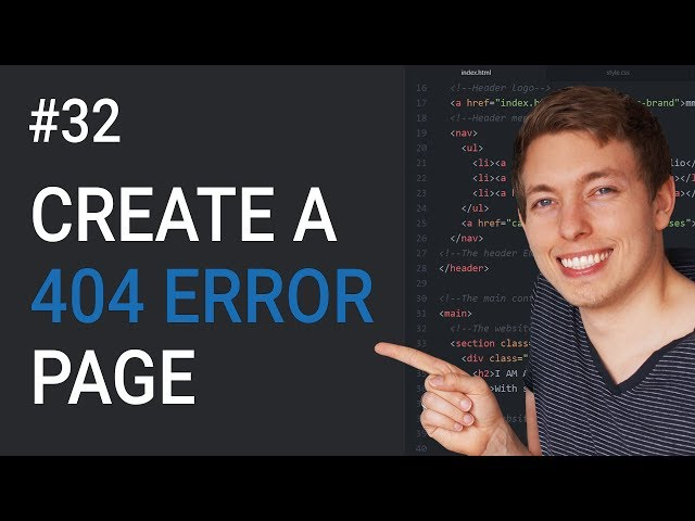32: How to Create a 404 Page in HTML   Create a Custom 404 Page   Learn HTML & CSS   HTML Tutorial thumbnail