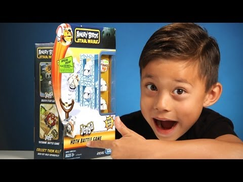 Angry Birds STAR WARS Toy - JENGA HOTH BATTLE Game - Unboxing / Review