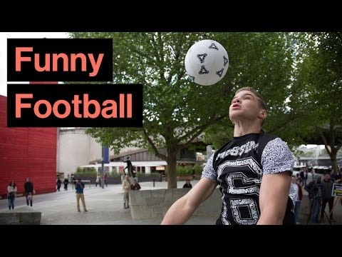 Trying to Jump As High As Cristiano Ronaldo | 8ft 6in Jumping Header Challenge