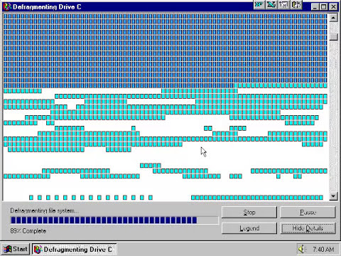 Windows 95 Defrag