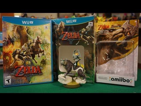 Unboxing The Legend Of Zelda: Twilight Princess HD + Amiibo Wolf Link (Wii U)