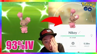 93IV SHINY BUNEARY CAUGHT during 2019 EASTER EVENT in Pokemon Go!
