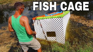 FISH-CAGE SAVES Fish From Hurricane **SAFE FOR FISH**