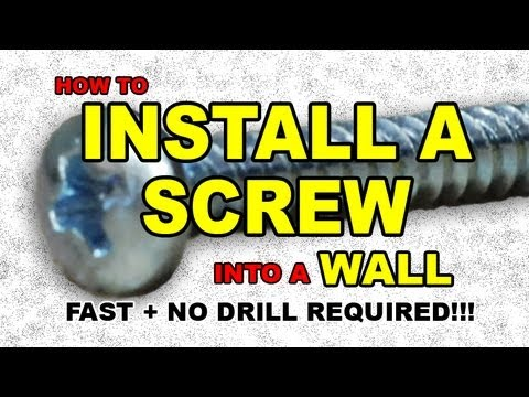 How to INSTALL a SCREW into a WALL (anchor) drywall