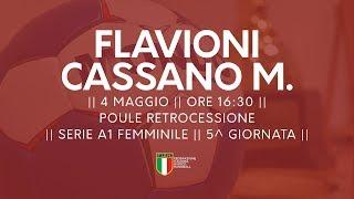 Serie A1F [5^ Poule Retrocessione]: Flavioni - Cassano Magnago 25-25