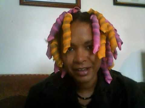 Curlformers Wet Set on Natural Hair Pt 1
