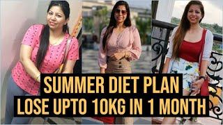 Summer Diet Plan | How to Lose Weight Fast 10KG in Summer | Full Day Diet Plan for Weight Loss