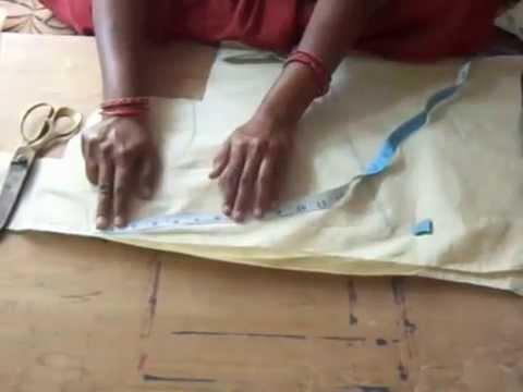 Glass neck blouse cutting in Telugu