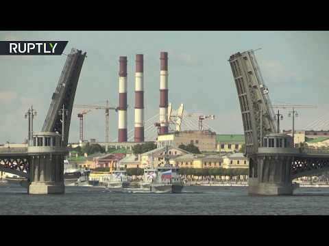 Never before: Saint Petersburg's bridges lift in daylight for Navy Day rehearsals