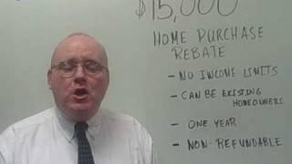 Stimulus Plan: $15,000 Housing Credit