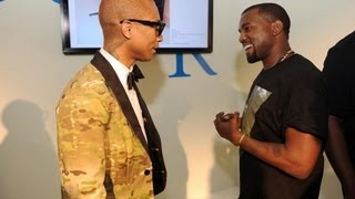 Pharrell Video - Kanye West Surprises Pharrell During a Q&A