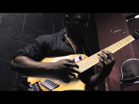 "Tosin Abasi plays ""sketch"" 7 string guitar"