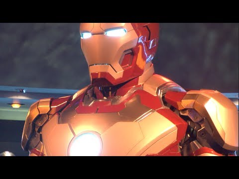 DISNEYLAND IRON MAN 3 STARK EXPO HALL OF ARMOR MARK 42 SUIT April 14, 2013 REVIEW