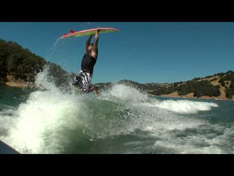 Wakesurfing Superman Attempts Video