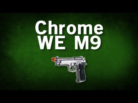 Airsoft GI - WE Full Metal Chrome Silver MEU M9 Airsoft Pistol Review