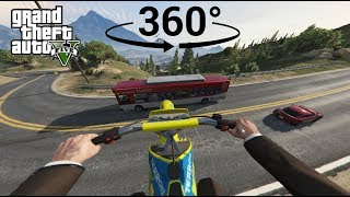 Chasing a Jet on a Dirtbike in VR - GTA V 360°