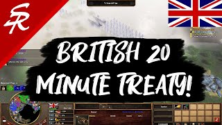 British 20 Minute TREATY! Age of Empires III
