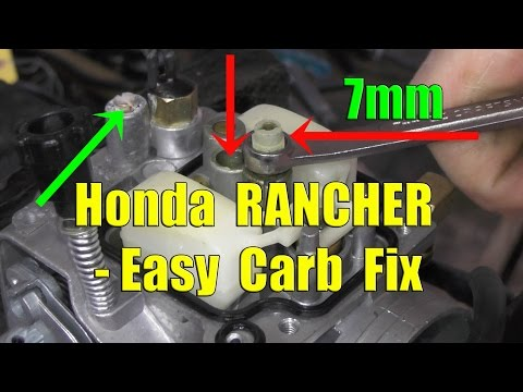 Honda Rancher Fourtrax: Carburetor Removal and Cleaning