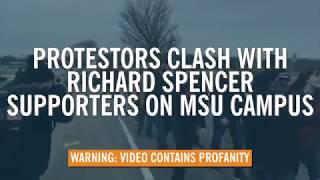 Antifa Reds Attack Altright at Richard Spencer MSU Event