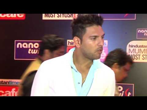 Yuvraj Singh at Hindustan Times Mumbai Most Stylish Awards 2014