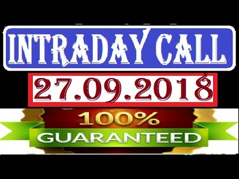 IntraDay Top 3 Jackpot Call 27.09.2018 || today stock || intraday || best stock for 2018