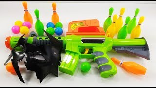 Colorful New Green and Orange Toy Guns! Box of Toys - Funny Music with Colors & Toys
