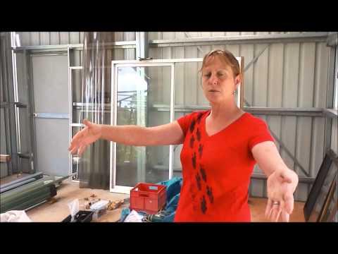 Dr Karen Coombes walks thru new building
