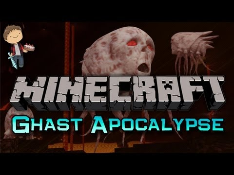 Minecraft: Ghast Apocalypse Mini-Game w/Mitch & Friends Part 1 of 2 - Battle Prep!