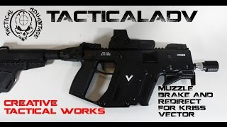 Kriss Vector Muzzle device and Flash Can by Creative Tactical Works