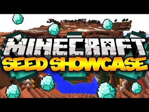 Minecraft Seed Showcase: BEST 1.7.5 SEED! (20 DIAMONDS, 3 Temples, Villages, &am