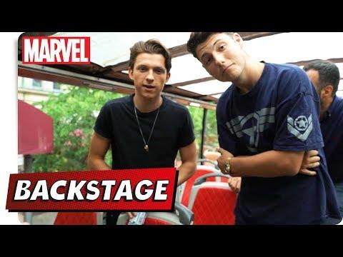 Jonah BACKSTAGE - Mit Tom Holland   Marvel HQ Deutschland