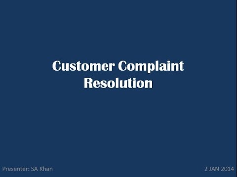 Customer Complaint Resolution
