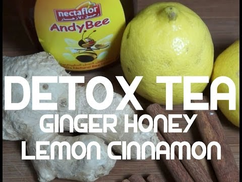 Detox Drink - Ginger Cinnamon Lemon Honey - Healthy Tea Hot or Cold