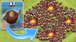 "NEW HELMET FOR LVL 8 BARBS!?!! ""Clash Of Clans"" ALL BARBARIAN RAID!!"
