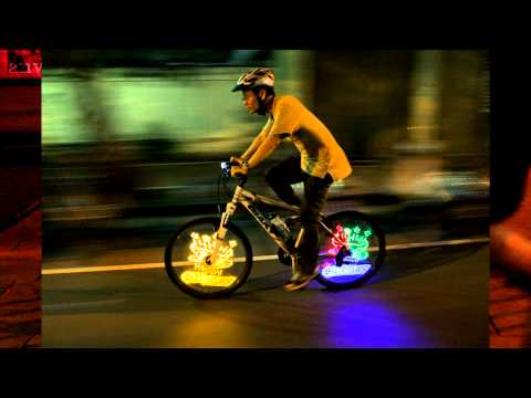 anvii™ wireless wheel AD: LED light painting on bicycle wheels