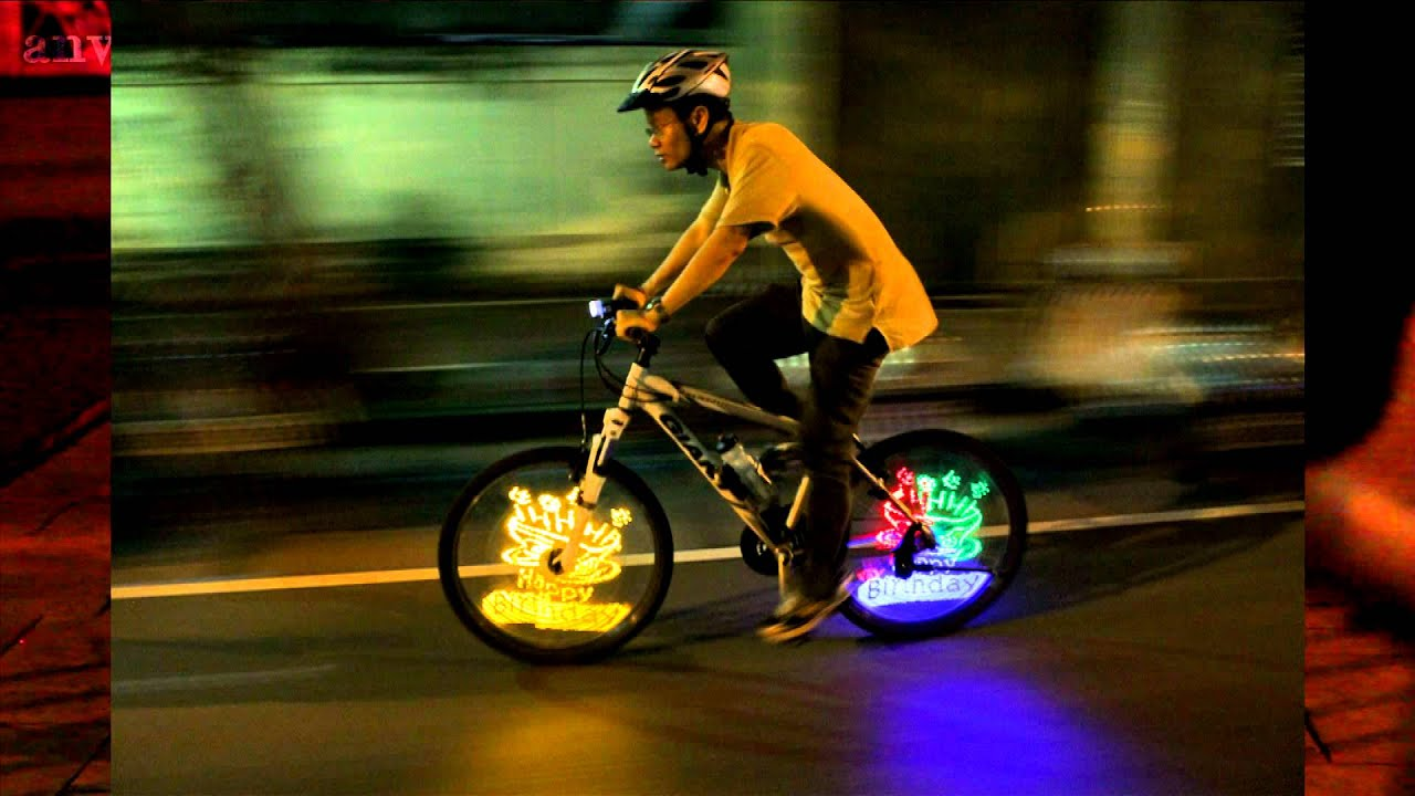 Bike Lights For Wheels painting on bicycle wheels
